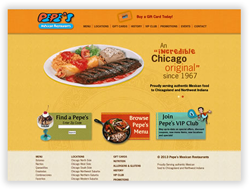 Pepe's Mexican Restaurants Custom CMS in Chicago