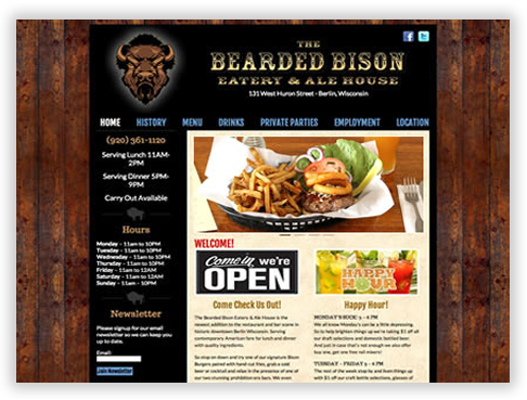 Bearded Bison Custom WordPress Theme in Chicago