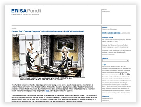ERISA Pundit Custom WordPress Blog in Chicago