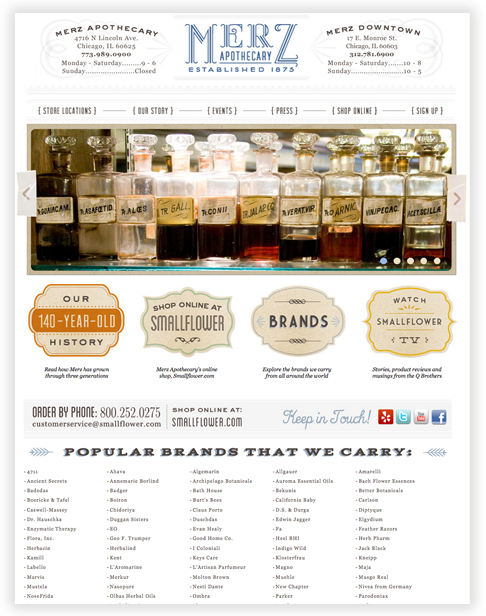 Merz Apothecary Custom WordPress Theme in Chicago