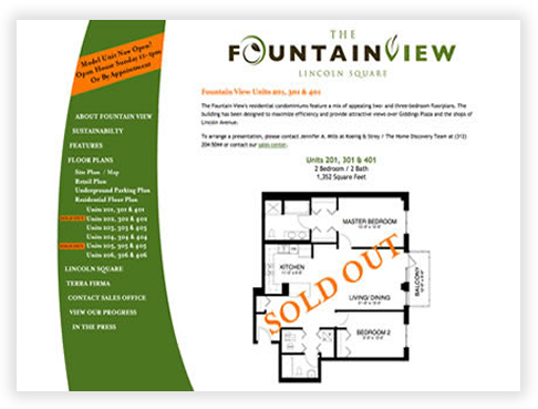 FountainView in Lincoln Square - Unit Detail Pages
