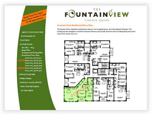 FountainView in Lincoln Square - Main Floor Plan