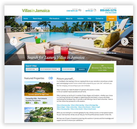 Custom Vacation Website in Chicago