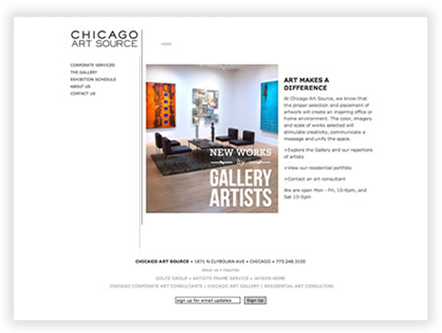 Chicago Art Source Web Database Application in Chicago