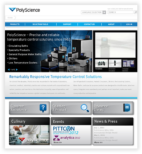 PolyScience Web Database Application in Chicago